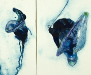 'flotilla # 1' detail, 2013 | hand-coloured carborundum and drypoint print | edition of three | diptych 78 x 76 cm | SOLD