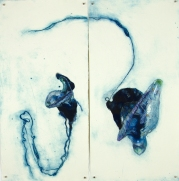 'flotilla # 1' 2013 | hand-coloured carborundum and drypoint print | edition of three | diptych 78 x 76 cm | SOLD