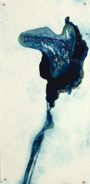 'flotilla # 2' 2013 | hand-coloured carborundum and drypoint print | edition of three | 78 x 38 cm